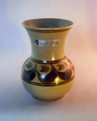 Good Honiton Pottery Vase: hand painted, with original label: 16.5 cm high