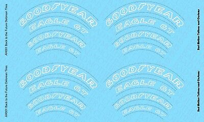 1/6 Hot Toys Back to the Future Marty McFly Delorean Tire Decals (OPAQUE white)