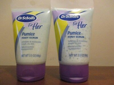(2) Dr. Scholl's For Her Pumice Foot Scrub, 3.5 oz