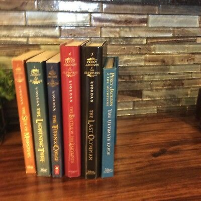 Lot 7 Complete Percy Jackson and the Olympians 1-3 PB 4,5 HB plus Ult Guide