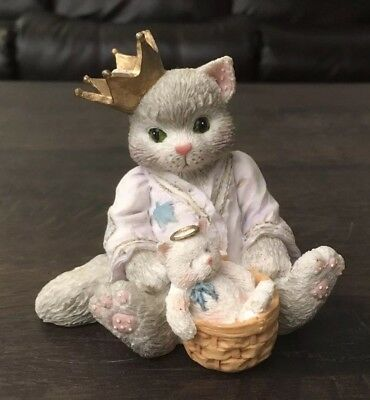 Vintage Enesco Calico Kittens I'll Bring A Special Gift For You Cat Figurine