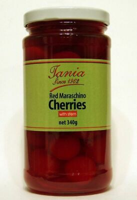 Tania Red Maraschino Cherries with Stem 340g