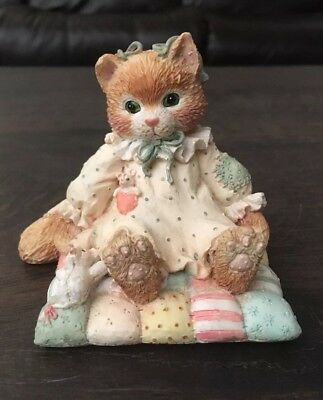 Vintage Enesco Calico Kittens You'll Always Be Close To My Heart Cat Figurine