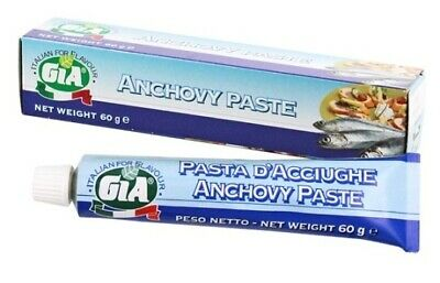 GIA Anchovy Paste Tube 60g, Italian Quality, FREE SHIPPING second+ item