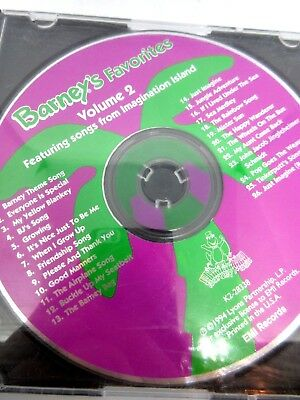 BARNEY'S FAVORITES FEATURING Songs From Imagination Island Vol  2 MUSIC  AUDIO CD