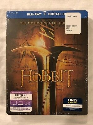 The Hobbit Trilogy (Blu-ray Disc, Includes Digital Copy SteelBook Only  Best...