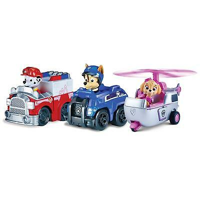 Paw Patrol Spy Chase, Fire Marshall, Skye 3 Pack Team Rescue Racers Brand New!