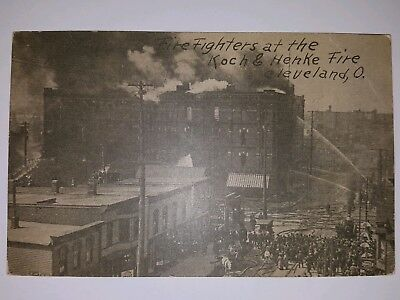 Cleveland Ohio Fire Fighters At Koche & Henke Vintage Postcard