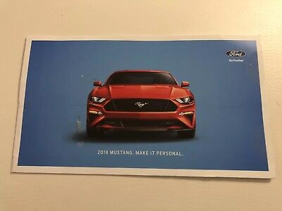 2019 FORD MUSTANG 6-page Ford Promotional Original Sales Brochure