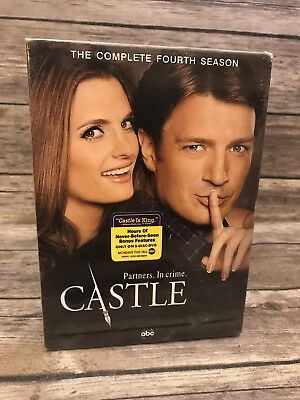 Castle: The Complete Fourth Season 4 (DVD, 2012, 5-Disc Set) TV Show NEW Sealed