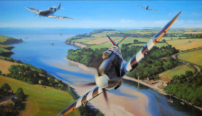Gifts Art wall HD printed oil painting Canvas ww2 war Retro Vintage Fighter f106