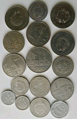 Romania Lot Of 16 Coins