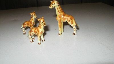Vintage Bone China Giraffe Family Miniatures Japan Mother And Twins