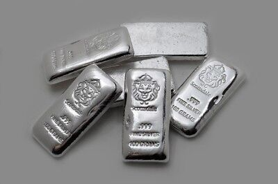 1 x Scottsdale 100 gram .999 Silver bullion Cast Bar