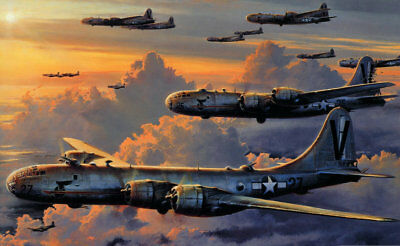 Gifts Art wall HD prints oil painting on canvas ww2 war Retro Vintage Fighter 73