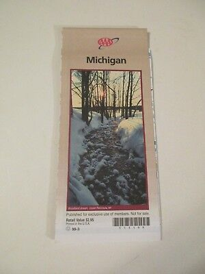 AAA MICHIGAN TRAVEL Road Map US State Series Vacation