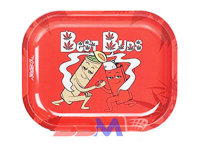 Smoke Arsenal BEST BUDS Tobacco Metal Small Rolling Tray 7x5