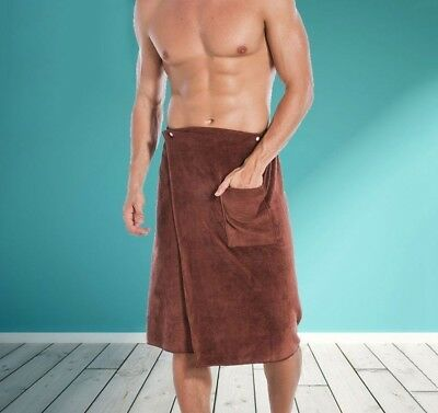 Man Wearable Magic Mircofiber Baths Towel With Pockets Soft Polyester Towels New