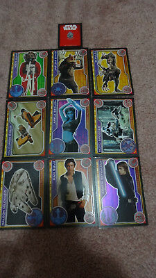 Carrefour Spain Star Wars Collector Trading Cards x9 Han Solo Anakin Skywalker