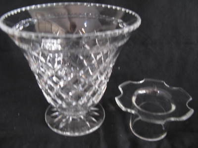 Quality vintage large heavy STUART CRYSTAL VASE & FROG STUNNING diamond cut