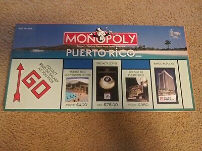 Monopoly Puerto Rico Rare Limited Edition 2005 USAopoly Game SEALED COMPONENTS
