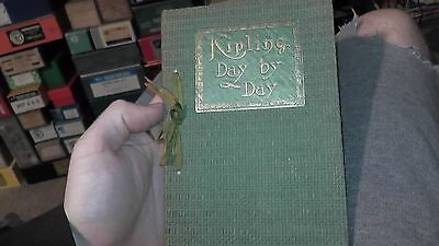 antique book kipling day by day new york crowell 1913 old vintage rare ? green