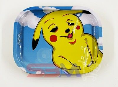 Smoke Arsenal TOKEMON Cigarette Tobacco Metal Small Rolling Tray 7x5