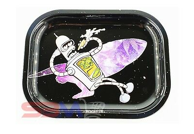 Smoke Arsenal FUTURAMA BENDER Tobacco Metal Small Rolling Tray 7x5