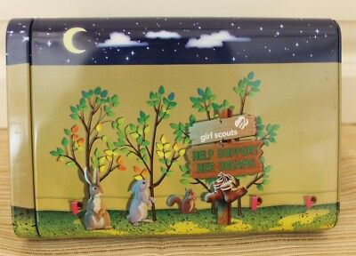 Girl Scouts Collector Tin 2017 Tent Camping Bunny Rabbits Campfire