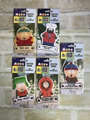 KYLE-CHEF-STAN-CARTMAN-KENNY - Air Fresheners - NEW - For Display Purposes Only