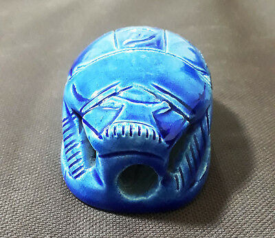 Egyptian Египет Ägypten Pharaoh Scarab Paperweight Sculpture,Hand Carvedceramic
