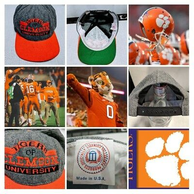 Cappello Clemson University Tigers South Carolina vintage anni 80 Made in USA