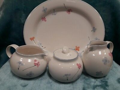 Hornsea Pottery vintage 'Mistral' range. 4 Immaculate pieces. Classic,...