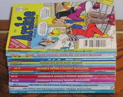 Archie Comics Lot of 14 1990's VG Conditioin