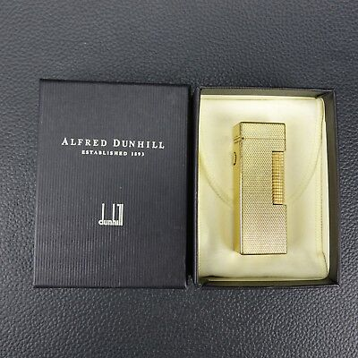 Alfred Dunhill Gold Plated Barley Design Rollagas Lighter w/ Box Switzerland