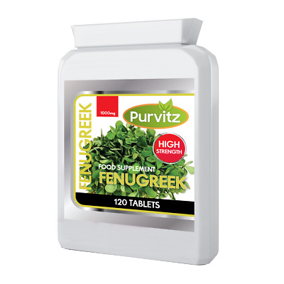 Fenugreek 1000mg 120 Tablets Purvitz Not Capsules High Strength Fast Working UK
