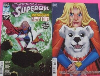 SUPERGIRL  # 25 COVER A & B VARIANT DC 2018 Anniversary Issue NM.