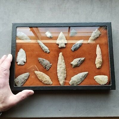 Authentic Arrowheads Virginia Artifacts Stone Tools With Case
