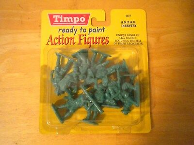 Timpo - Ready To Paint Action Figures - Anzac Infantry - New In Package!