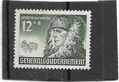 timbre allemand du lll reich ww2  39/45 (generalgouvernement)