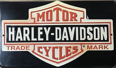 VTG Harley Davidson Motor Cycles Trade Mark Stamped Sign