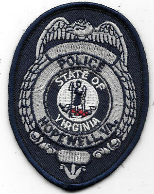"""Law Enforcement Patch: Hopewell Of Virginia Police - Measures 3 1/2"""" X 2 1/2"""""""