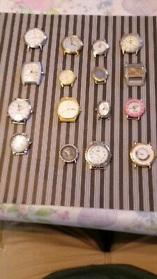 16 Various Quartz wrist Watches For Repair Or Parts mens womens watch lot
