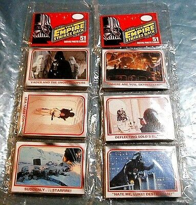 Topps Star Wars Empire Strikes Cards. 2 sealed packs of 51 each