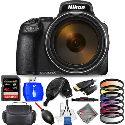 Nikon COOLPIX P1000 Digital Camera 32GB Tripod Bundle - Authorized Dealer