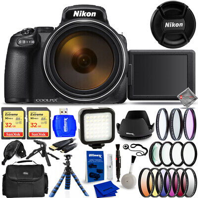 Nikon COOLPIX P1000 16MP 4K UHD Digital Camera #26522 - Mega Bundle