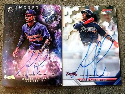 2016 Bowman's Best Inception Ozzie Ozhaino Albies Auto Lot 2 Braves