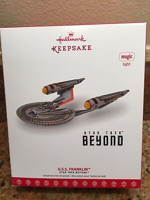 2017 HALLMARK U.S.S. Franklin Star Trek Beyond Magic Light Keepsake Ornament NEW