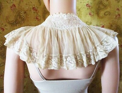 19C French Duchess Lace Collar Cape-let Fichu  #2