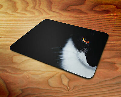 black and white cat 5mm Rubber Mouse Mat PC Pad D8